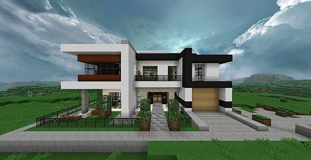 House Plans And Design Modern House Design For Minecraft
